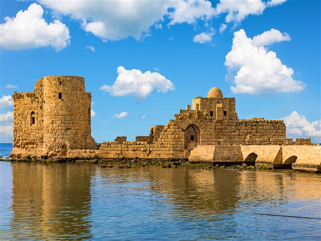 See the View           from the Crusader's Sea Castle
